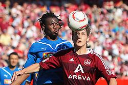 07.05.2011, easy Credit Stadion, Nuernberg, GER, 1.FBL, 1. FC Nuernberg / Nürnberg vs TSG 1899 Hoffenheim, im Bild Isaac Vorsah (Hoffenheim #25) gg Philipp Wollscheid (Nuernberg #38).EXPA Pictures © 2011, PhotoCredit: EXPA/ nph/  Will       ****** out of GER / SWE / CRO  / BEL ******