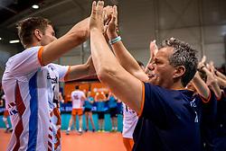 20-05-2018 NED: Netherlands - Slovenia, Doetinchem<br /> First match Golden European League / Coach Gido Vermeulen, Thijs ter Horst #4 of Netherlands