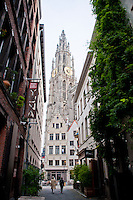 Approach the Cathedral in Antwerp, Belgium