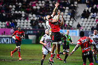 Viliami MAAFU / Sergio PARISSE - 31.01.2015 - Stade Francais / Oyonnax - 17eme journee de Top 14<br />Photo : Dave Winter / Icon Sport
