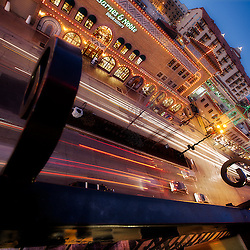 The Plaza Lights on Sunday January 2nd from the top of a garage along 47th Street in Kansas City.