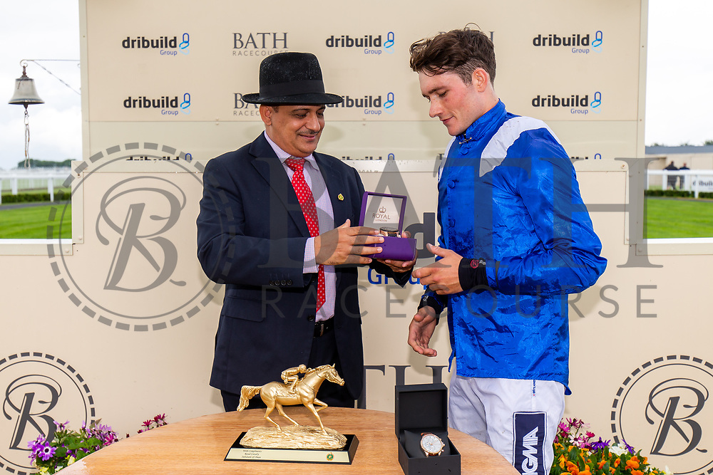 Alex Chadwick on Al Hakeem (trained by James Owen) wins the Al Qurum Beach Amateur Riders Handicap Stakes during Ladies Day at Bath Racecourse - Rogan/JMP - 15/06/2019 - HORSERACING - Bath Racecourse - Bath, England.