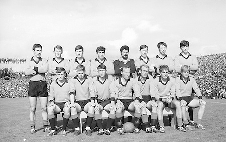 All Ireland Senior Football Championship Final, Kerry v Down, 22.09.1968, 09.22.1968, 22nd September 1968, Down 2-12 Kerry 1-13, Referee M Loftus (Mayo).Captain J Lennon,...The Down Team, .Back row (from left) Tom O'Hare, John Murphy, Ray McConville, Willie Doyle, Danny Kelly, Sean O'Neill, Jim Milligan, Dan McCartan. Front row (from left) Brendan Sloan, Peter Rooney, Micheal Cole, Joe Lennon (capt), Paddy Doherty, Colm  McAlarney, John Purdy, .Down Team