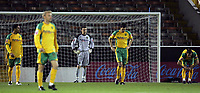 Photo: Paul Thomas.<br /> Burnley v Norwich City. Coca Cola Championship. 23/10/2007.<br /> <br /> Dejected keeper David Marshall (C) and Norwich players after Burnley score after one minute with Robbie Blake's goal.