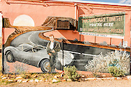 Historic Route 66, Tucumcari, New Mexico, mural, James Dean, Blue Swallow Motel