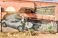 Historic Route 66, Tucumcari, New Mexico, mural, James Dean, Blue Swallow Motel