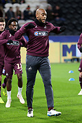 Swansea City midfielder Leroy Fer (8) in warm up during the EFL Sky Bet Championship match between Hull City and Swansea City at the KCOM Stadium, Kingston upon Hull, England on 22 December 2018.