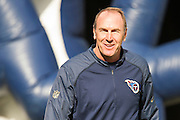 NASHVILLE, TN - DECEMBER 6:  Head Coach Mike Mularkey of the Tennessee Titans greets people on the sidelines before a game against the Jacksonville Jaguars at Nissan Stadium on December 6, 2015 in Nashville, Tennessee.  The Titans defeated the Jaguars 42-39.  (Photo by Wesley Hitt/Getty Images) *** Local Caption *** Mike Mularkey