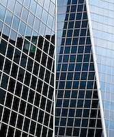 Glass windows reflecting light, Hill Towers, downtown Regina Saskatchewan