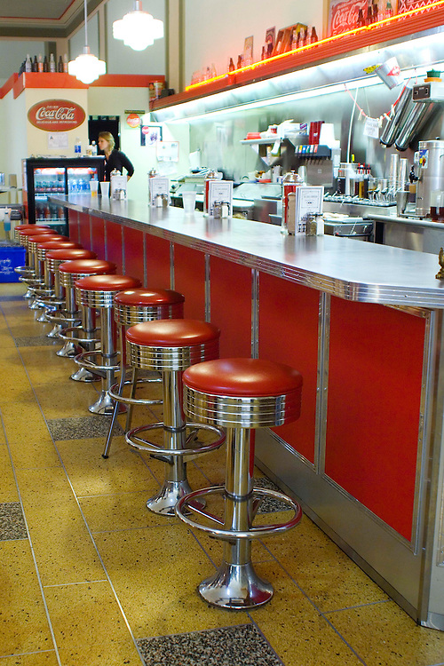 Located inside the Woolworth Walk, is one of downtown Asheville's historic landmarks, The Soda Fountain diner working lunch counter resembles the original luncheonette which was in the Woolworth store in the 1950s.