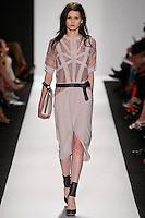 Katlin Aas walks the runway wearing BCBG during Mercedes-Benz Fashion Week in New York City on September 6, 2012