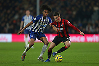 Football - 2019 / 2020 Premier League - AFC Bournemouth vs. Brighton & Hove Albion<br /> <br /> Bournemouth's Harry Wilson holds off Bernardo of Brighton during the Premier League match at The Amex Stadium Brighton  <br /> <br /> COLORSPORT/SHAUN BOGGUST