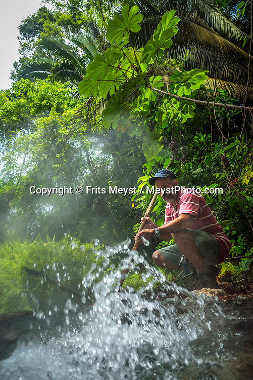 Honduras, May 2014. Hot Springs of Sambo Creek Canopy Tours & Spa near La Ceiba. From the Bay islands on the Caribbean coast, via the lush jungles of the interior to the ancient Mayan culture of Copan, Honduras is one big adventure.  Photo by Frits Meyst / MeystPhoto.com