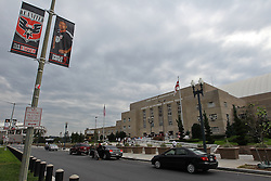 October 1, 2011; Washington D.C.; USA; Fans lineup outside the D.C. Armory hours before the weigh-in's for UFC on Versus 6.