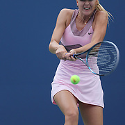 Maria Sharapova, Russia, in action against Marion Bartoli, France, during the US Open Tennis Tournament, Flushing, New York. USA. 5th September 2012. Photo Tim Clayton