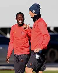 Timothy Fosu-Mensah shares a joke with Zlatan Ibrahimovic - Mandatory by-line: Matt McNulty/JMP - 19/10/2016 - FOOTBALL - Manchester United - Training session ahead of Europa League game against Fenerbahce