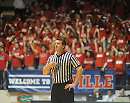 """Referee Doug Shows at Mississippi vs. LSU at the C.M. """"Tad"""" Smith Coliseum on Thursday, March 4, 2010 in Oxford, Miss. Ole Miss won 72-59."""