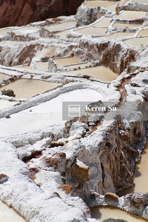 Salt pans in Moray, Sacred Valley, near Cuzco, Peru