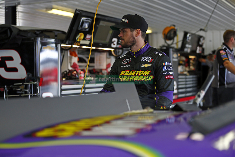June 1, 2018 - Long Pond, Pennsylvania, United States of America - Ryan Truex (11) hangs out in the garage prior to practice for the Pocono Green 250 at Pocono Raceway in Long Pond, Pennsylvania. (Credit Image: © Justin R. Noe Asp Inc/ASP via ZUMA Wire)