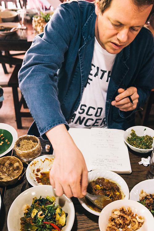 Tom Parker-Bowles at a Northern Thai restaurant, Chiang Mai
