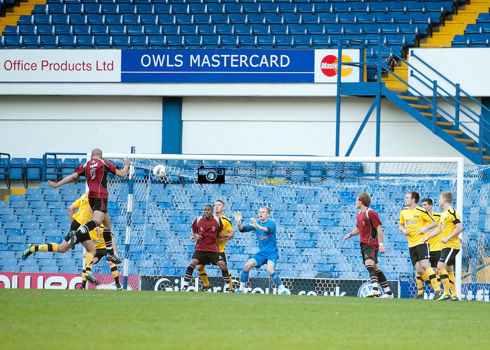 Varsity 2012 Football 1 (Men) University of Sheffield v Sheffield Hallam at Sheffield Wednesday FC Hillsborough Stadium 280312 score 0-2