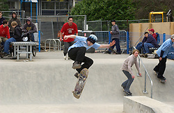 Skateboard park at Exhibition Park; Newcastle-upon-Tyne; NE England; UK