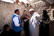 ** Note to Editor: Subject names deliberately omitted for protection**..UNHCR Special Envoy, Angelina Jolie continued her regional tour visiting Iraq today...On the fourth leg of a tour to support UNHCR's regional response to the Syrian refugee situation, Special Envoy Angelina Jolie spent the day visiting an area of Baghdad home to families previously displaced by the conflict in Iraq and now returning due to conflict in Syria....©UNHCR/JTanner/Sept 2012