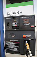 Gas station fuel pump  with natural gas