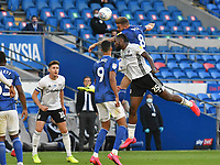 Football - 2019 / 2020 Championship - Play-off semi-final - 1st leg - Cardiff City vs Fulham<br /> <br /> Joe Ralls of Cardiff City & Josh Onomah of Fulham<br /> in a match played with no crowd due to Covid 19 coronavirus emergency regulations, in an almost empty ground, at the Cardiff City Stadium<br /> <br /> COLORSPORT/WINSTON BYNORTH