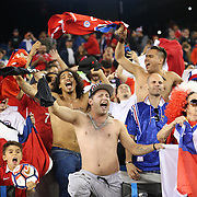 FOXBOROUGH, MASSACHUSETTS - JUNE 10: Chilean fans celebrate their sides late winning goal during the Chile Vs Bolivia Group D match of the Copa America Centenario USA 2016 Tournament at Gillette Stadium on June 10, 2016 in Foxborough, Massachusetts. (Photo by Tim Clayton/Corbis via Getty Images)