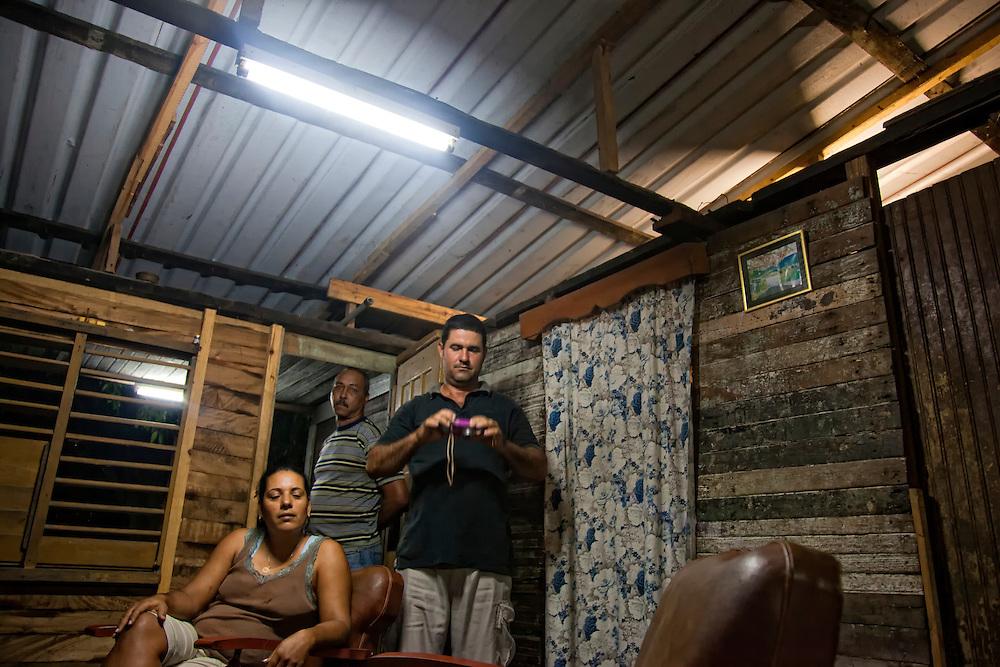 House interior in Antilla, Holguin, Cuba.