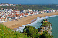 Alberto Carrera, View of Nazaré Beach, Atlantic coast, Nazaré, Portugal, Europe