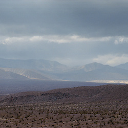 Advancing storm over Anza-Borrego Desert State Park, CA.