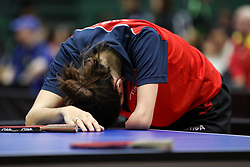 DAHLEN Aida of Norway dissapointed at 14th Slovenia Open - Thermana Lasko 2017 Table Tennis Championships for the Disabled Factor 8-9, on May 9, 2017, in Dvorana Tri Lilije, Lasko, Slovenia. Photo by Matic Klansek Velej / Sportida