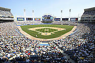 CHICAGO - JUNE 28:  A general view of Comiskey Park, home of the Chicago White Sox during an MLB game at Comiskey Park on June 28, 2002 in Chicago, Illinois.  (Photo by Ron Vesely)