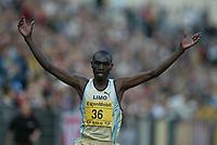Track and Field, 28. june 2002, Golden League - Bislett Games, Oslo, Norway. Benjamin Limo, Kenya, 5000 metres.