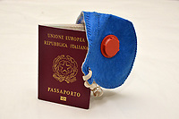 Rome-Italy, March 10, 2020, Italian passport and mask, for protection from the coronavirus (covid19)