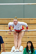 SO Poland athlete Brigade Alicka competes at gymnastic competition during eighth day of the Special Olympics World Games Los Angeles 2015 on August 1, 2015 at Wooden Centre on UCLA (University of California Los Angeles) in Los Angeles, USA.<br /> USA, Los Angeles, August 1, 2015<br /> <br /> Picture also available in RAW (NEF) or TIFF format on special request.<br /> <br /> For editorial use only. Any commercial or promotional use requires permission.<br /> <br /> Adam Nurkiewicz declares that he has no rights to the image of people at the photographs of his authorship.<br /> <br /> Mandatory credit:<br /> Photo by &copy; Adam Nurkiewicz / Mediasport