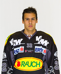 29.08.2012, Messestadion, Dornbirn, AUT, EBEL, Spielerportraits, Dornbirner Eishockey Club, im Bild Philip Putnik, (Dornbirner HC, #32)// during Dornbirner Eishockey Club Player Portrait Session at the Messestadion, Dornbirn, Austria on 2012/08/29, EXPA Pictures © 2012, PhotoCredit: EXPA/ Peter Rinderer