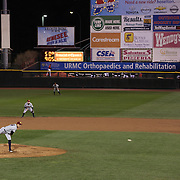 Chris Bootcheck pitching for the RailRiders during the Rochester Red Wings V The Scranton/Wilkes-Barre RailRiders, Minor League ball game at Frontier Field, Rochester, New York State. USA. 16th April 2013. Photo Tim Clayton