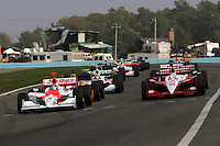 The start at Watkins Glen International, Watkins Glen Indy Grand Prix, September 25, 2005