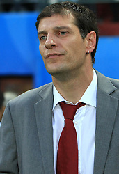 Head coach Slaven Bilic during the UEFA EURO 2008 Quarter-Final soccer match between Croatia and Turkey at Ernst-Happel Stadium, on June 20,2008, in Wien, Austria.  (Photo by Vid Ponikvar / Sportal Images)