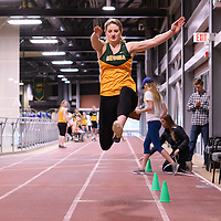 Megan Koblun in action during the Cougars Track&Field Intersquad on November 19 at Centre for Kinesiology, Health and Sport. Credit: Arthur Ward/Arthur Images