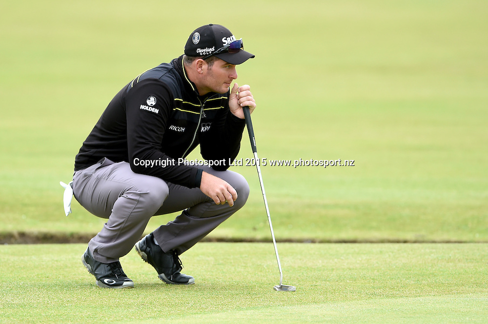 New Zealand's Ryan Fox during the first round of the 144th Open Championship at The Old Course on July 16, 2015 in St Andrews, Fife.<br />