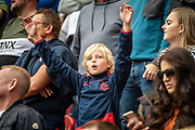 A young Bolton Wanderers fan during the EFL Sky Bet League 1 match between Rotherham United and Bolton Wanderers at the AESSEAL New York Stadium, Rotherham, England on 14 September 2019.