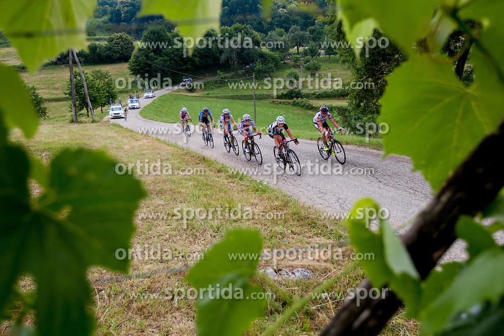 Jure Golcer of Tyrol Cycling team, Jan Pibernik of Radenska during Slovenian National Championship in Road Cycling, on June 23, 2013, in Gabrje, Slovenia. (Photo by Urban Urbanc / Sportida.com)