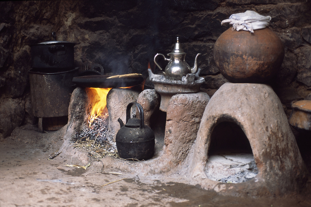 Moroccan village kitchen.