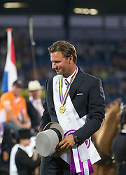De Ronde Koos, (NED)<br /> Driving competition Prizegiving<br /> European Championships - Aachen 2015<br /> © Hippo Foto - Dirk Caremans<br /> 22/08/15