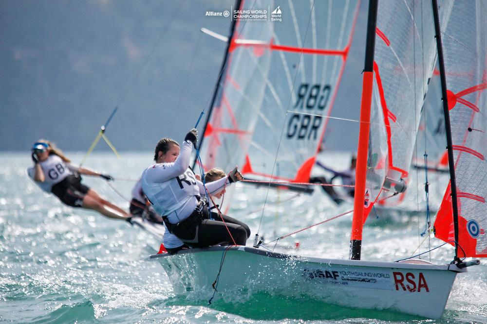 South Africa29erWomenCrewRSASF4SanmarieFourie<br />South Africa29erWomenHelmRSATH2TammyHolden<br />Day1, 2015 Youth Sailing World Championships,<br />Langkawi, Malaysia