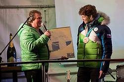 Reception for Zan Kosir in Trzic, on March 16, 2018 in Trzic, Slovenia. Photo by Urban Urbanc / Sportida
